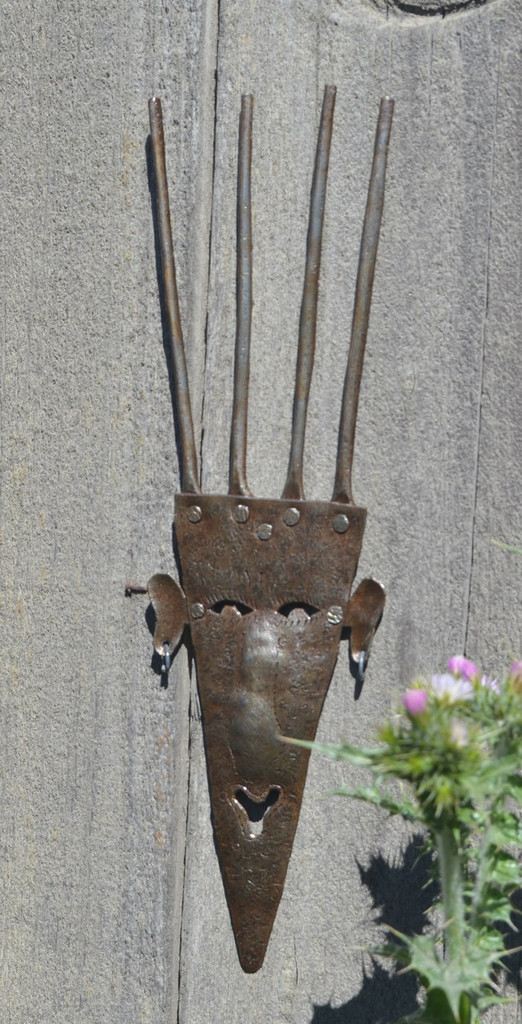 Garden Mask, Indoor and Outdoor Wall mask, Handmade in Haiti