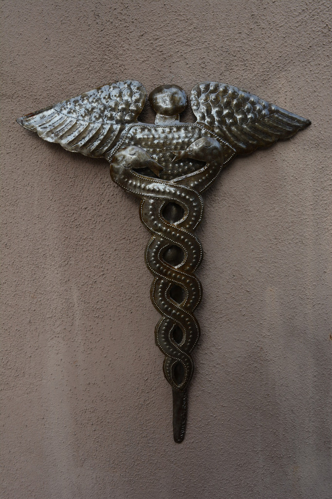 Hippocrates Staff Symbol, Handmade in Haiti Fair Trade