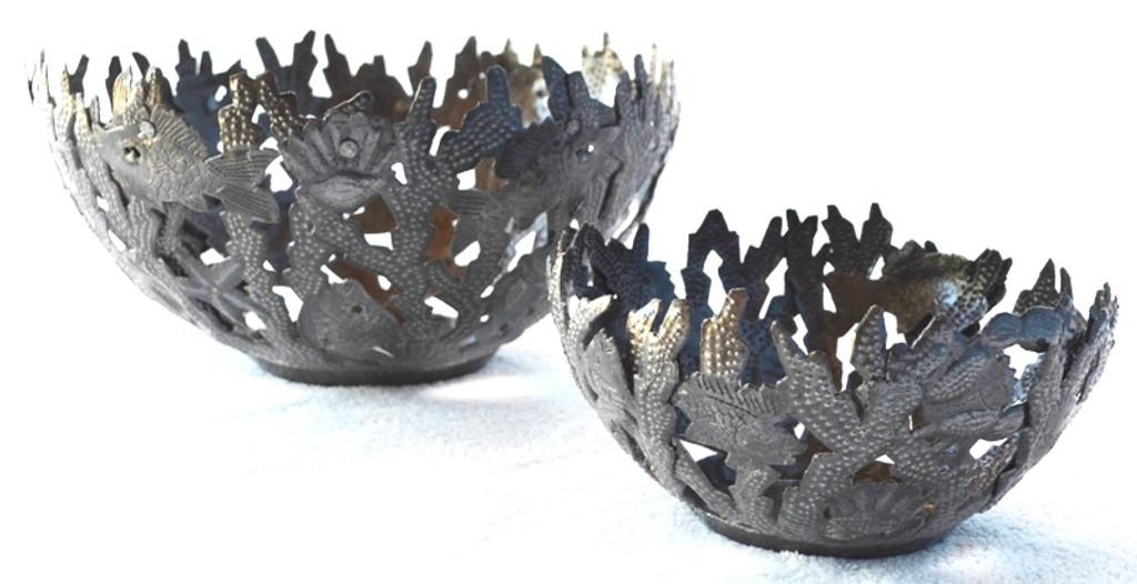"""Coral Reef Metal Basket 4 1/2"""" x 4 1/2"""""""