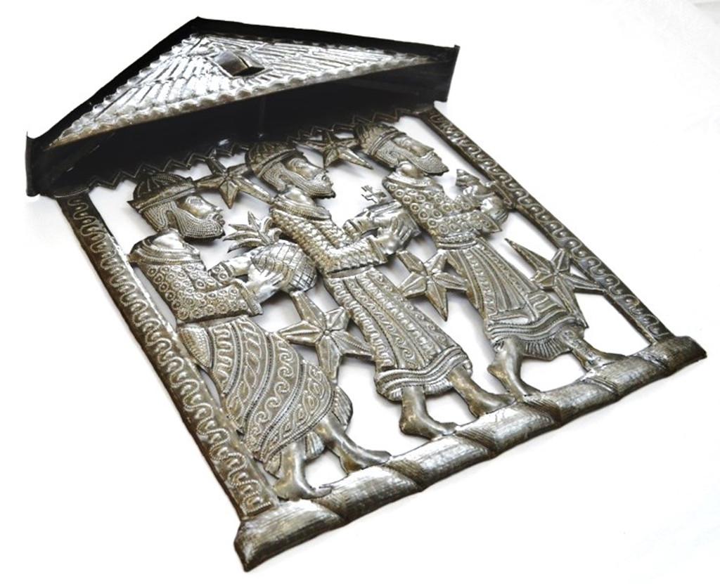 unique Haiti metal nativity