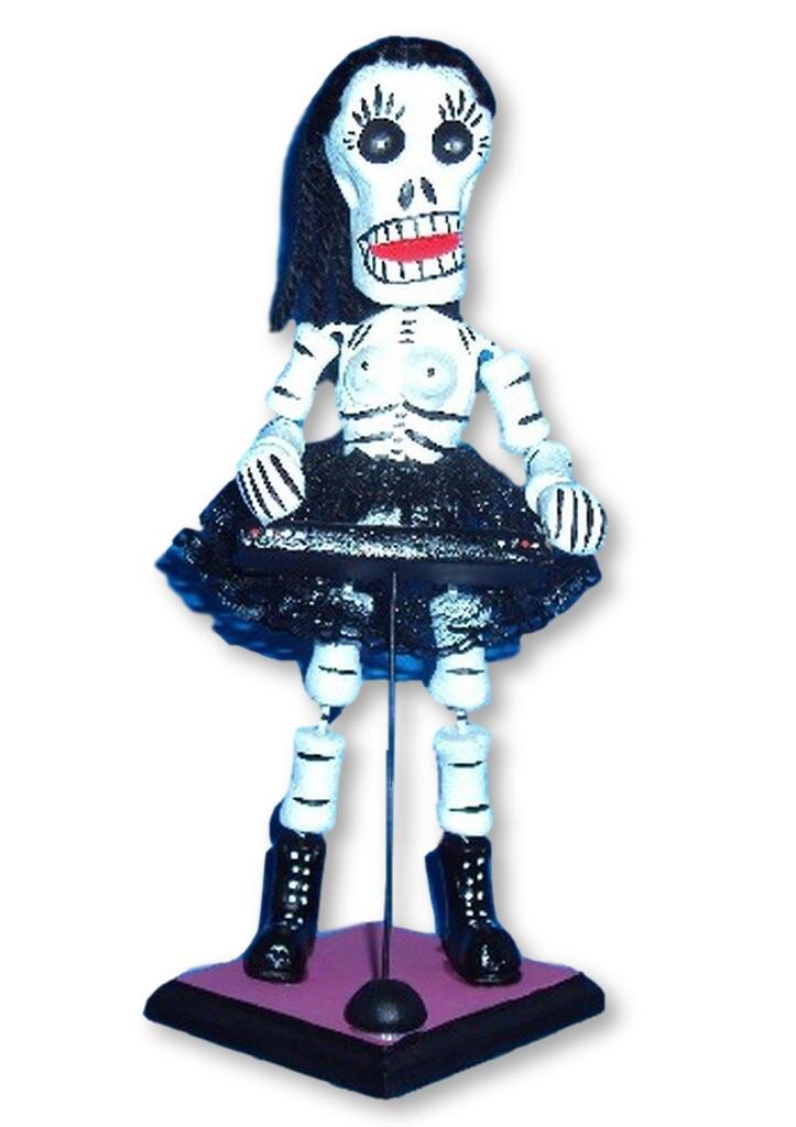 Skeleton day of the dead Musician Piano Player, Puebla Mexico