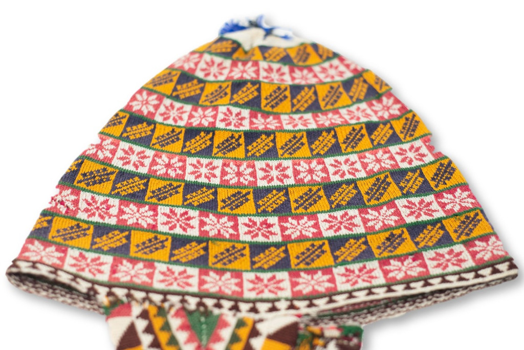 Vintage Ch'ullo from Bolivia, Hat Antique