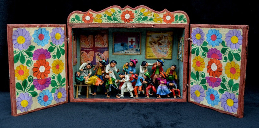 peruvian retablo , doctor office
