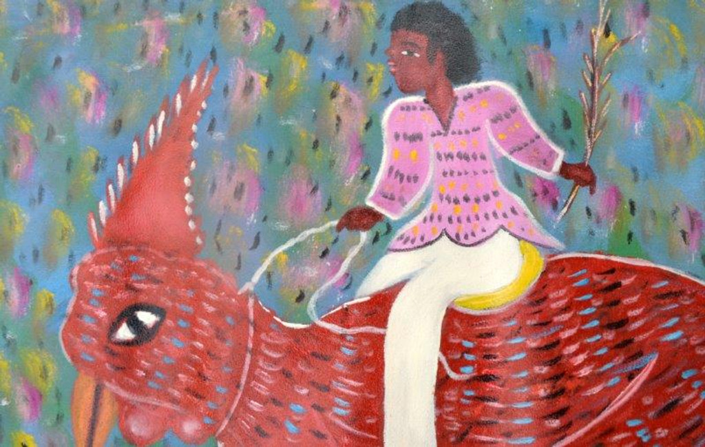 BOY ROOSTER RIDER BY GERARD FORTUNE