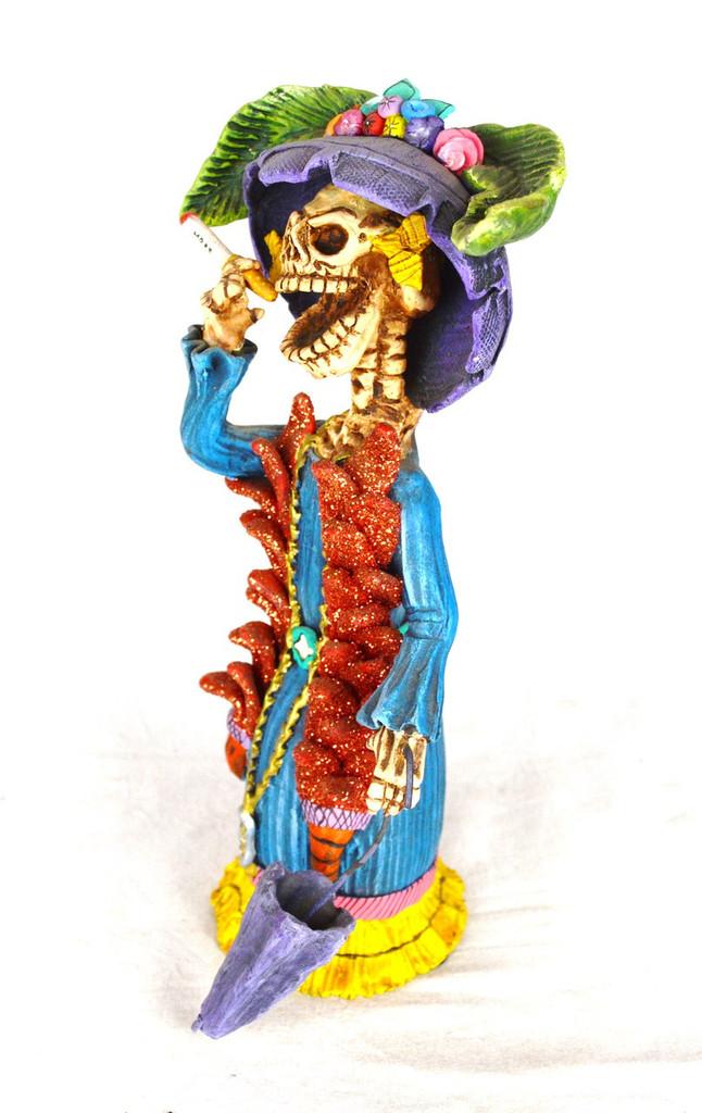 """Jose Juan Catrina Handmade  Clay Sculpture 4"""" x 10"""""""