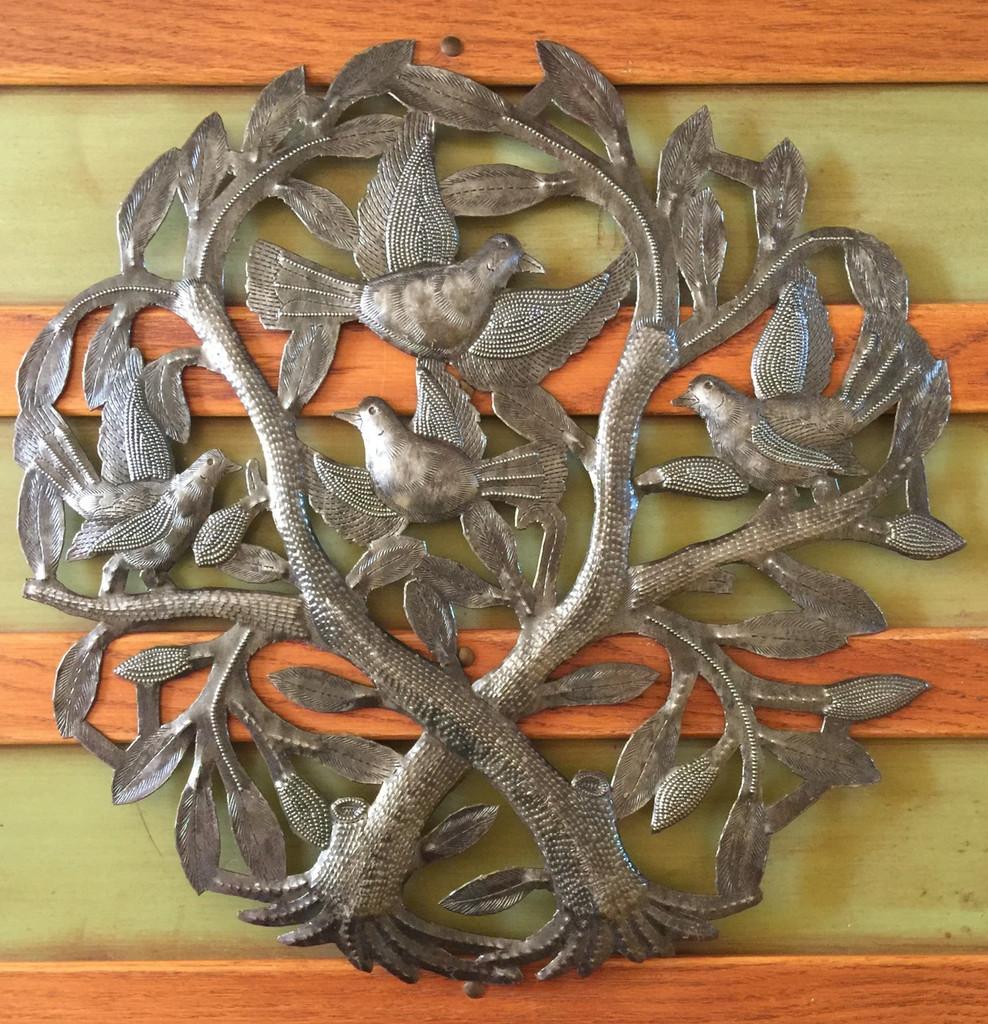 haiti metal tree of life