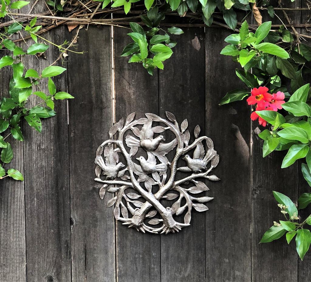 recycled fair trade metal art haiti tree