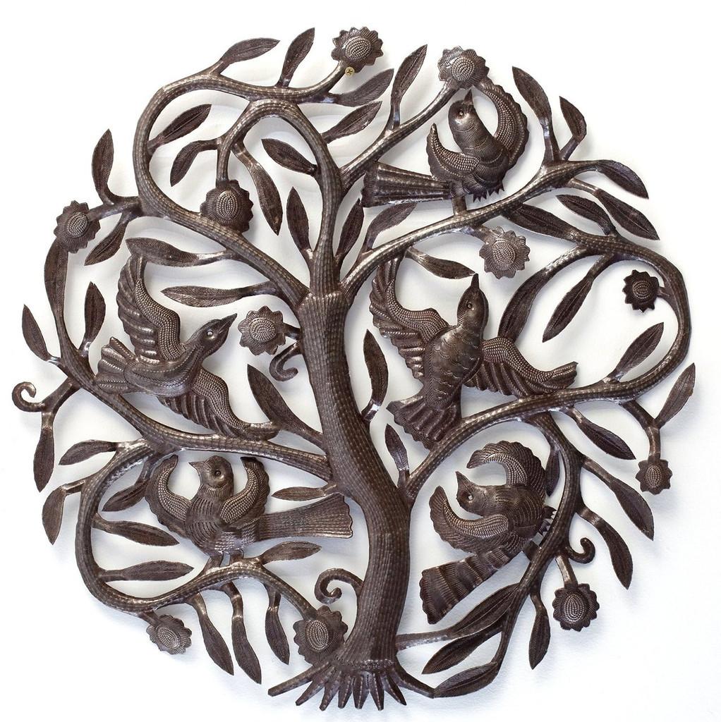 tree of life, Haitian metal wall art