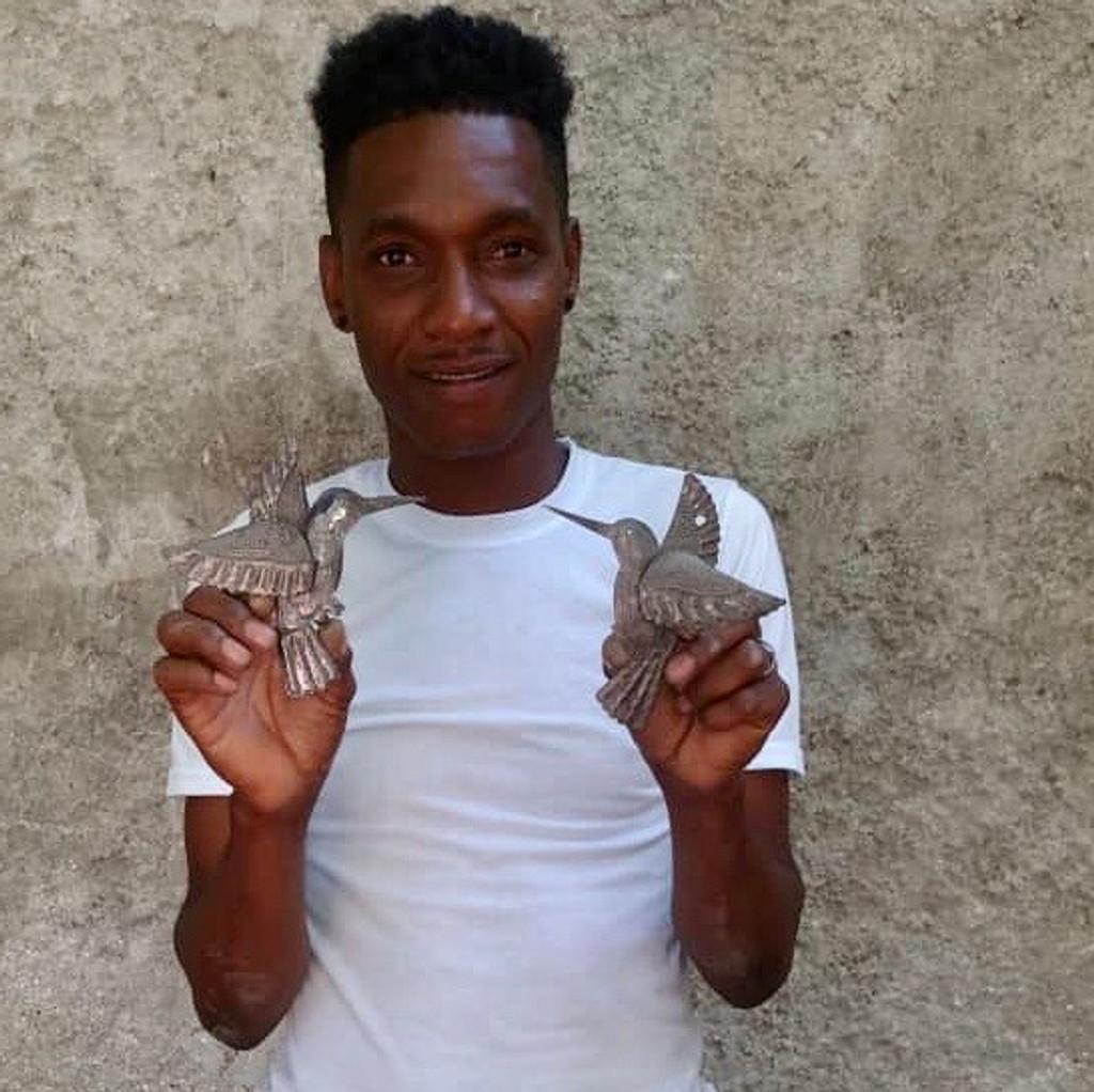 HAITIAN METAL ART , FAIR TRADE HAITI, UPCYCLED RECYCLED TIN WALL DECOR