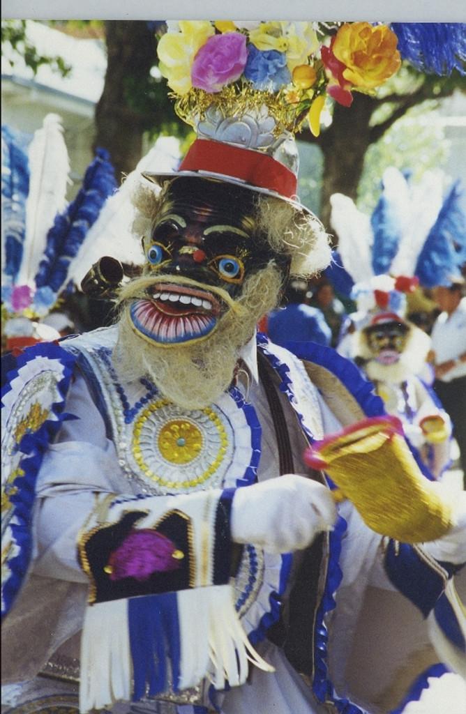 Bolivian Dance Mask Nickel Plated Morenada Mask