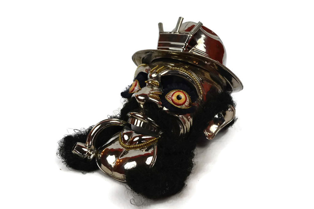 Bolivian Dance Mask Nickel Plated Morenada Mask
