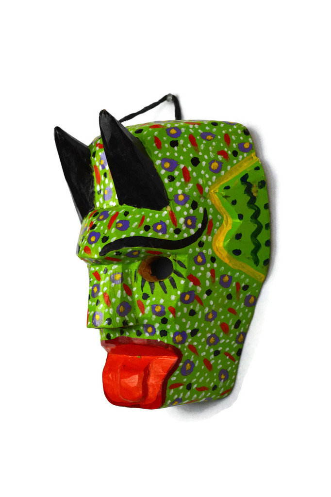 """Hand Carved Mask 5.5"""" X 3.5"""" X 7"""""""