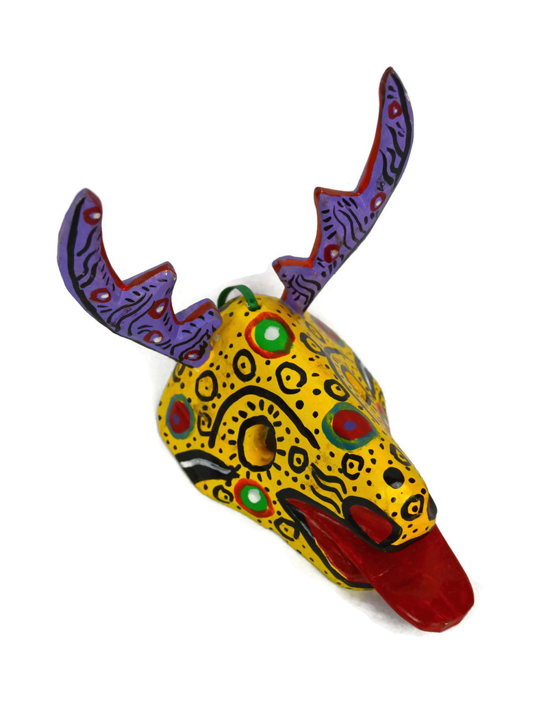 "Ornamental Hancrafted Deer Mask 3"" x 5"""