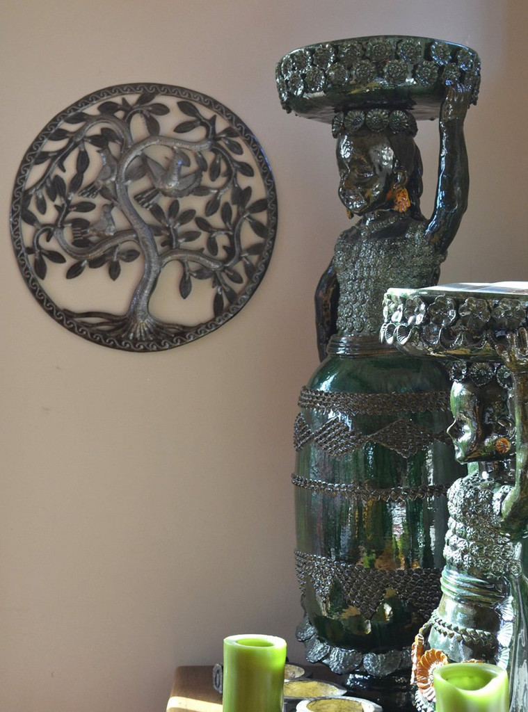Haitian Metal Art, Kitchen Home Decor, Tree of Life