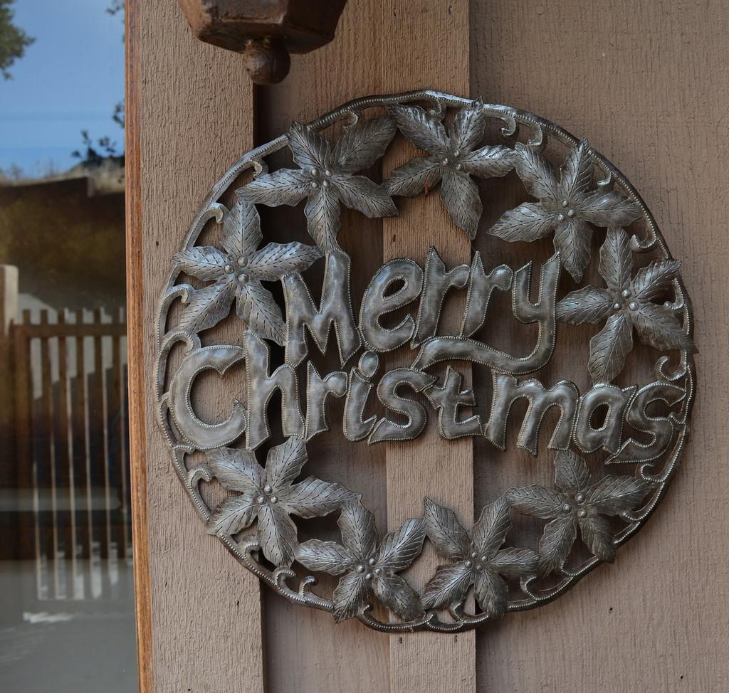 merry christmas front door sign