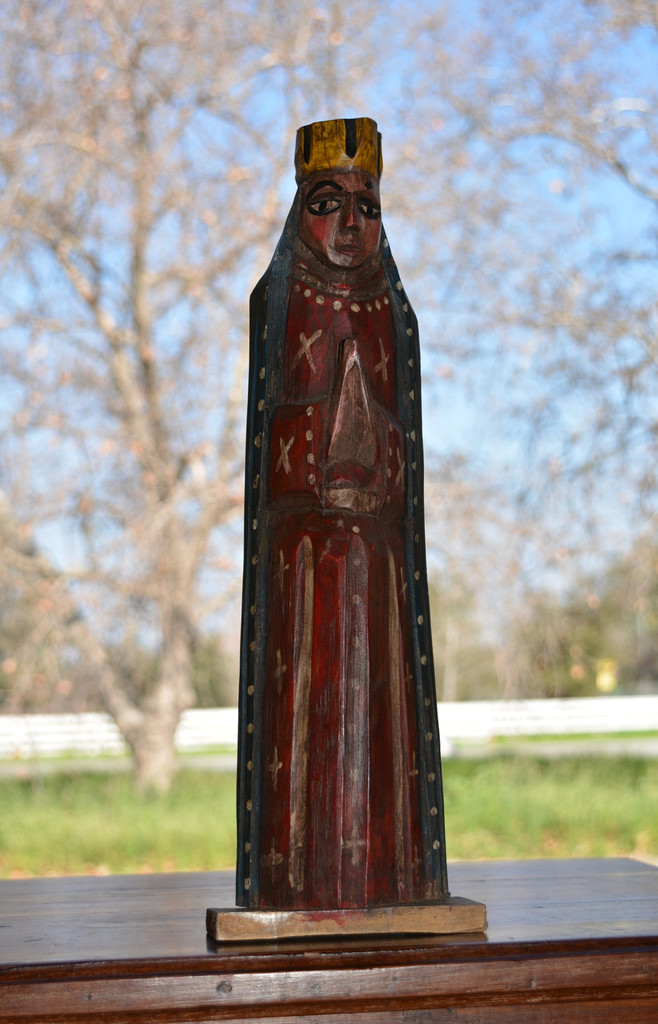 """Hand Carved Saint Mary, Our Lady of Guadalupe,  4.75"""" x 14.75"""""""