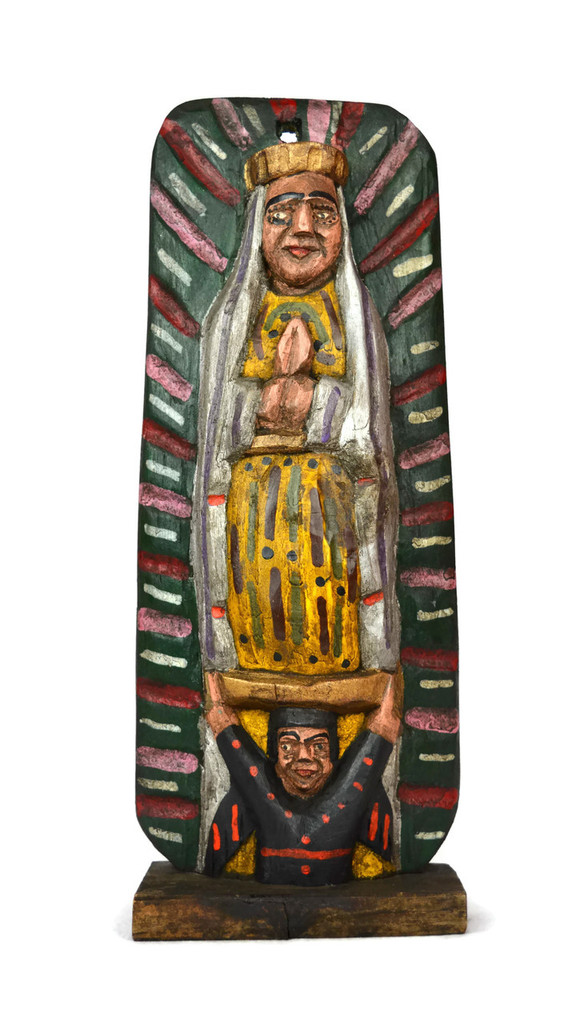 """Hand Carved Saint Mary,  Our Lady of Guadalupe 5.5"""" x 13"""""""