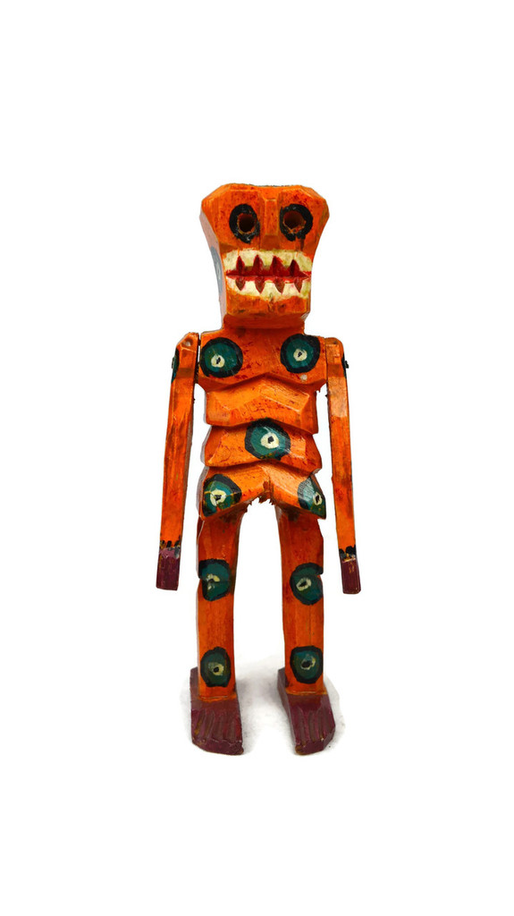 Day of the Dead, Halloween Wooden Skeleton  6.5""