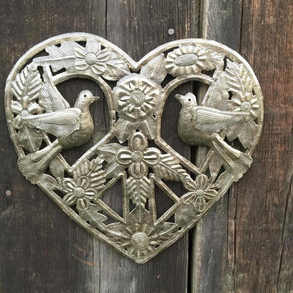 organic metal heart from haiti