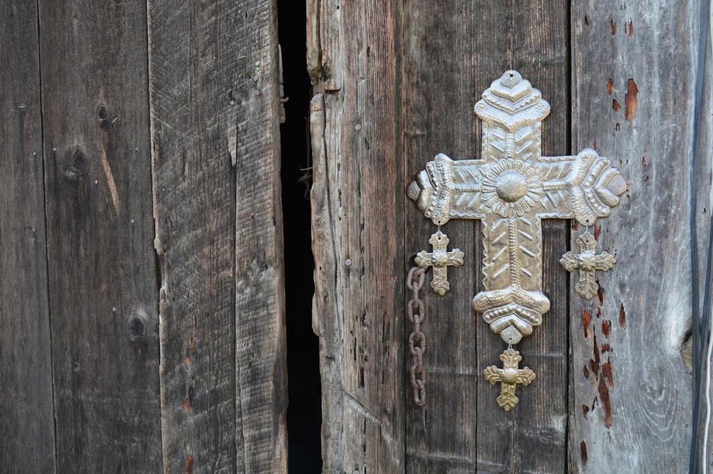 OUTDOOR METAL CROSS, GARDEN HOME ACCENT DECOR, RELIGIOUS WALL ART,