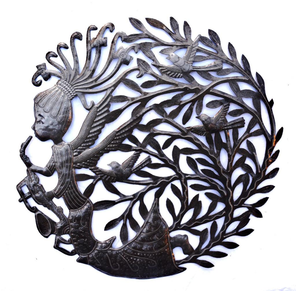 Angel Haiti Metal Art, It's Cactus Meta Art Haiti, Wall Decor