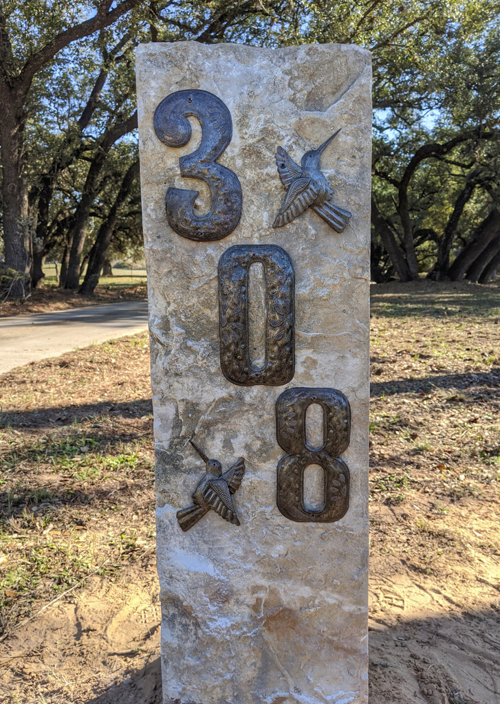 Handmade House numbers from Haiti, Handcrafted from recycled Steel Drum barrels