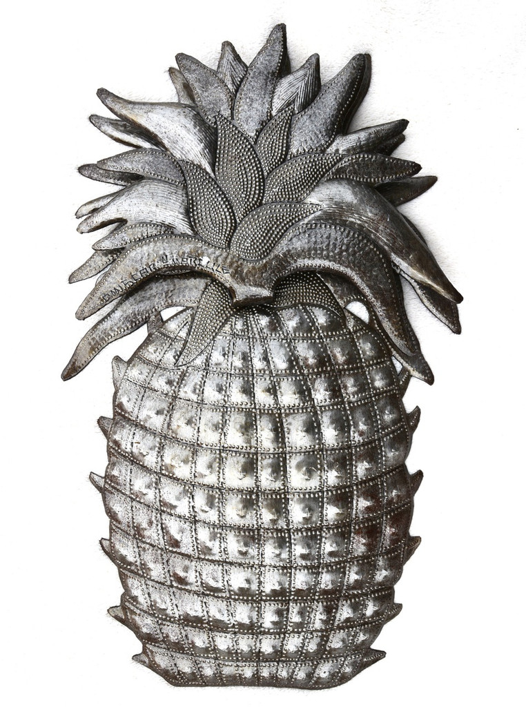 metal pineapple haiti metal art