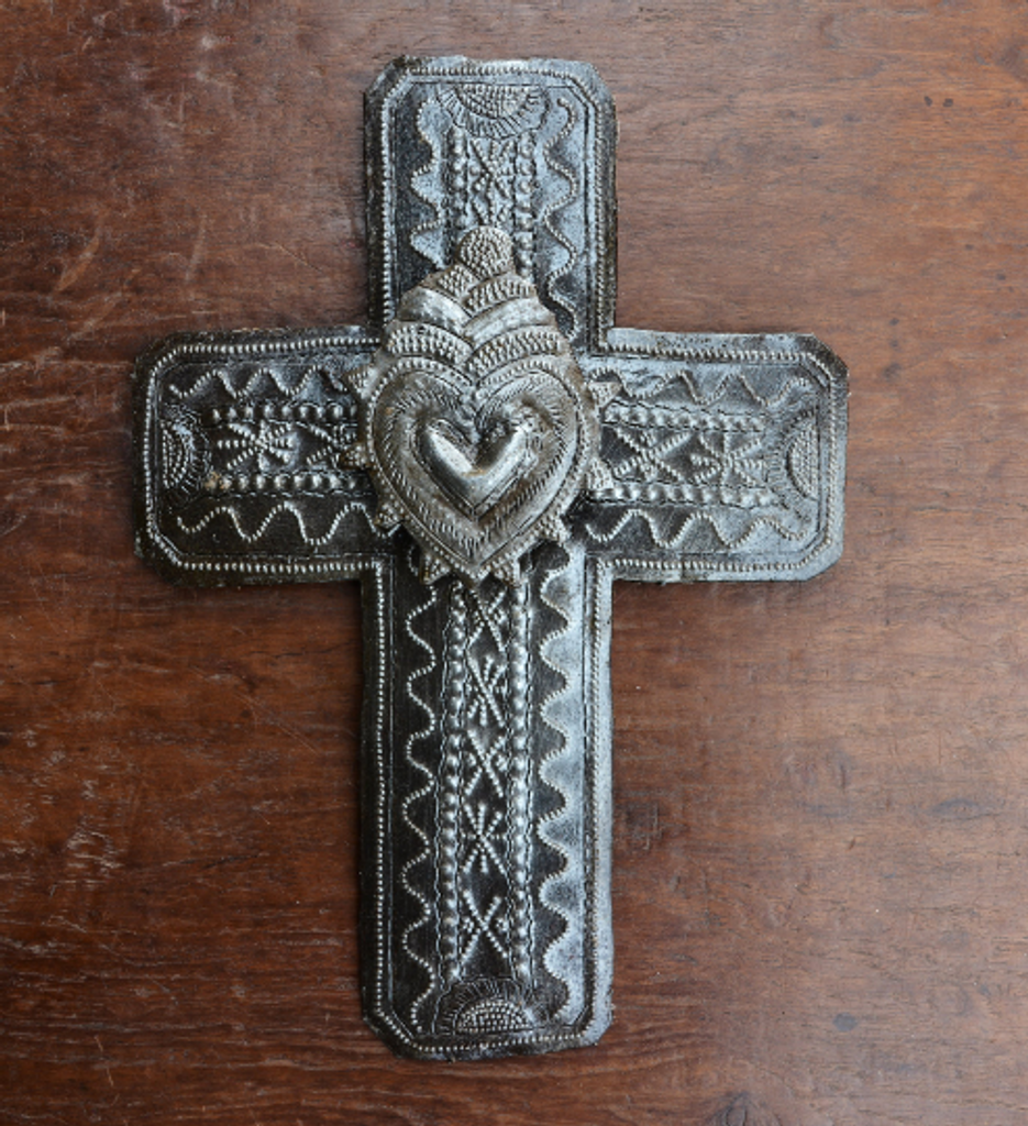 milagro cross handmade in Haiti