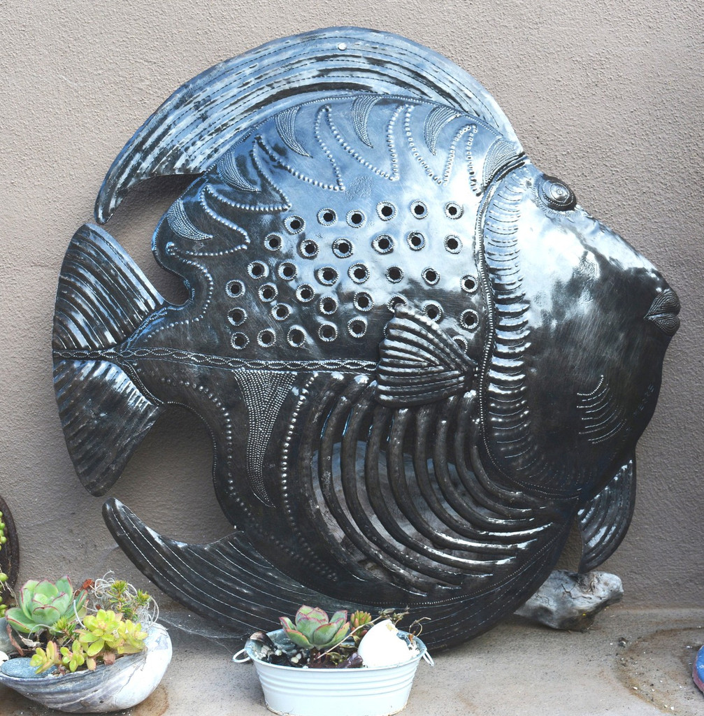 fish metal wall art recycle outdoor