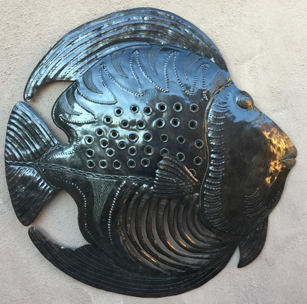 STEEL DRUM HAITIAN ART FISH