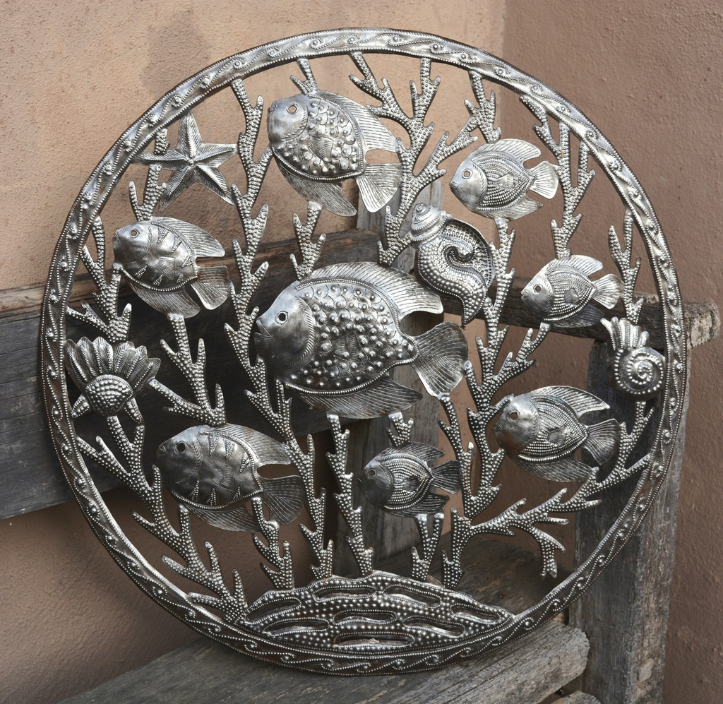 Haiti metal sea life art