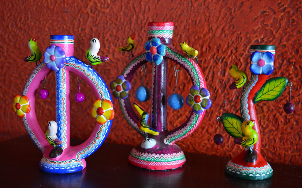 cactus candle holder, izucar, puebla, colorful, charms