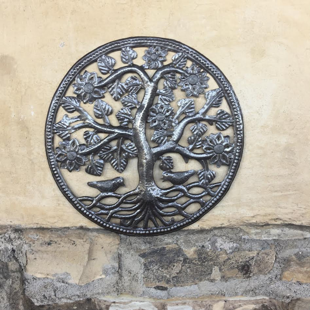 Tree of Life Haitian Metal Wall Art