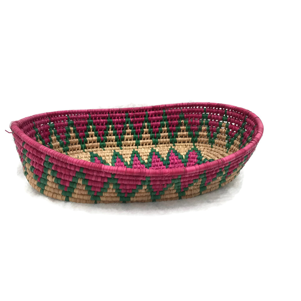 brightly colored hand woven fiesta basket