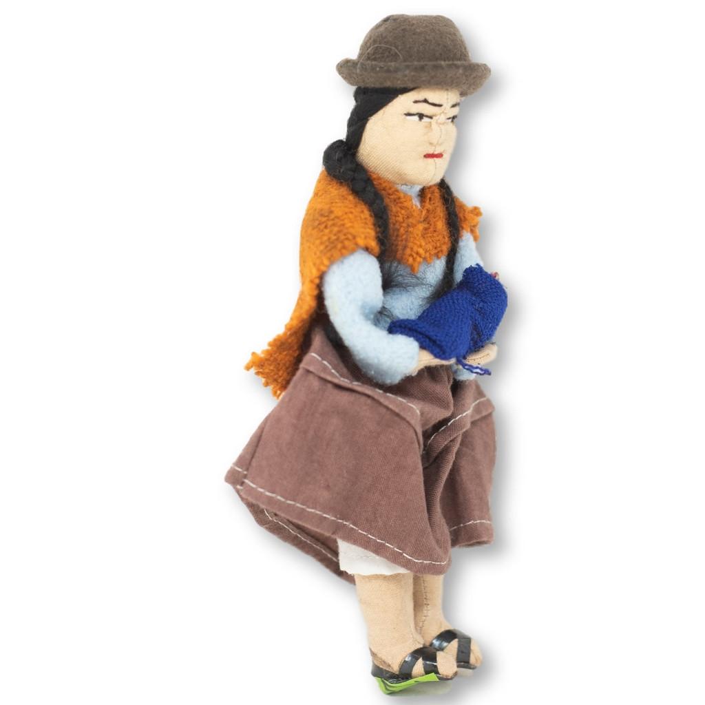 Traditional handmade Bolivian doll, Bolivia