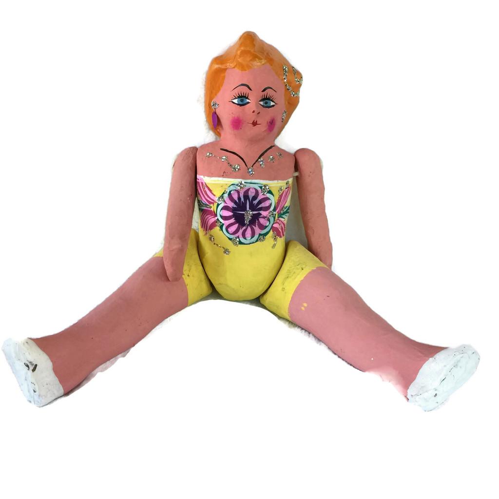 Puta Doll paper mache Mexican Folk Art