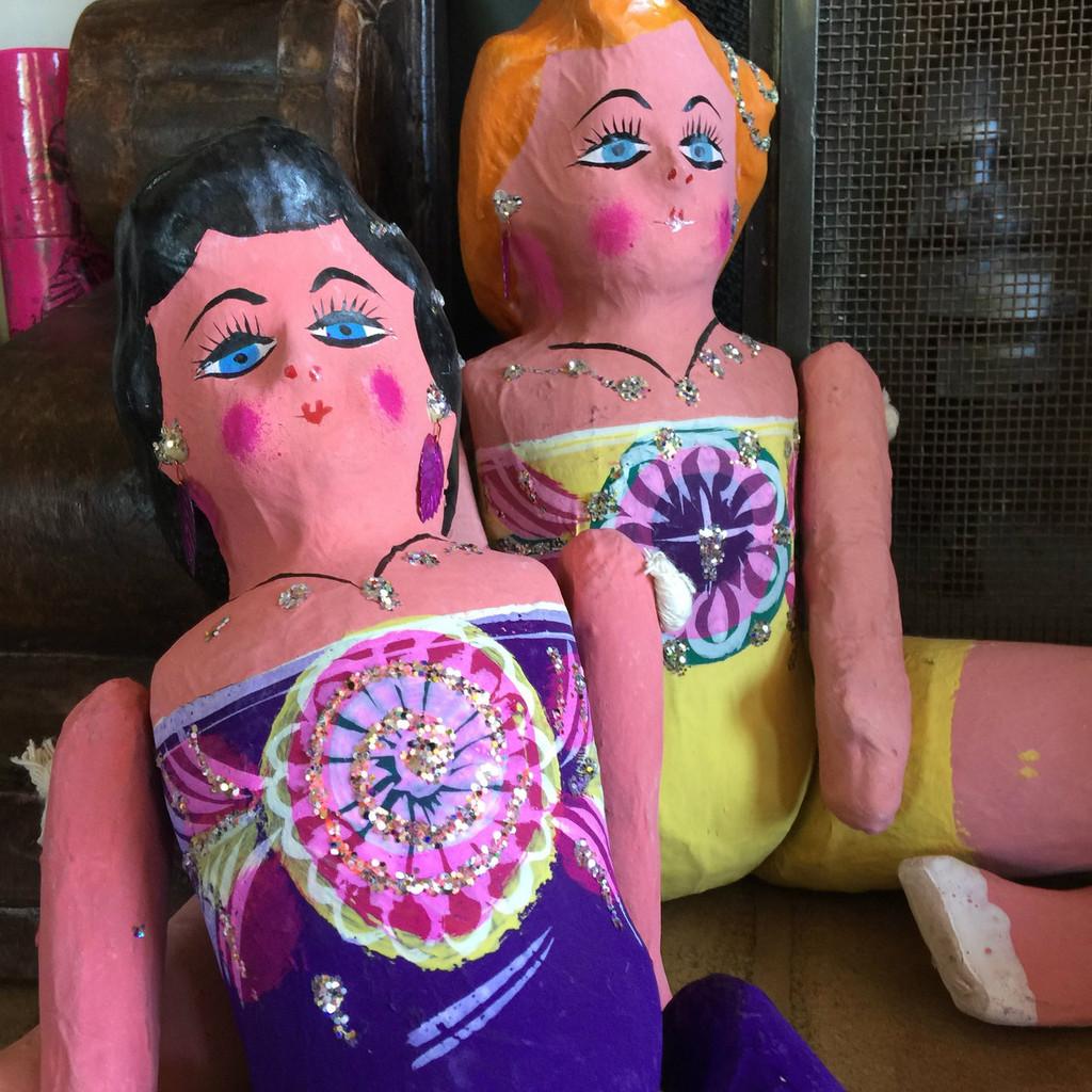 Mexican paper Mache doll