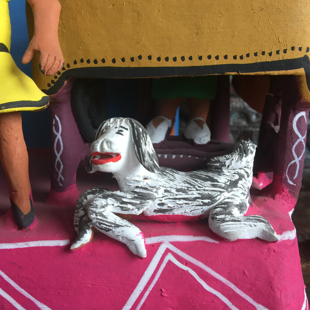 Dog in Mexican Folk Art Ocumicho