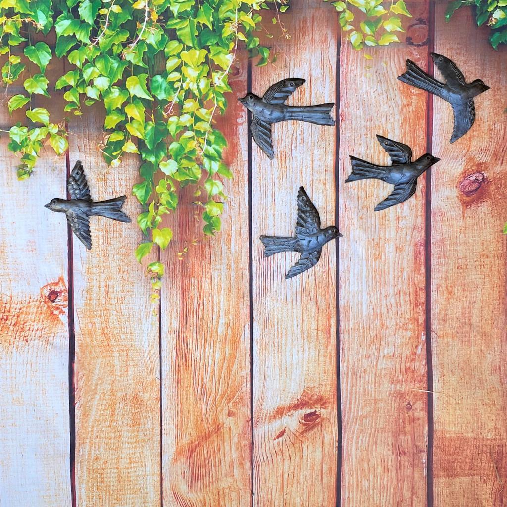 Garden Fence Birds