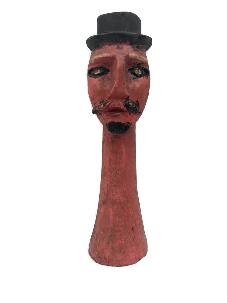 Artisan Top Head Guatemalan Wood Carving