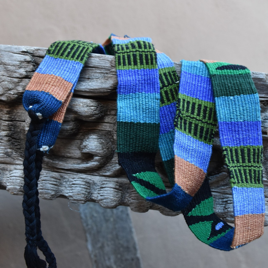 Fair Trade handwoven hat band from Mexico and Guatemala Bright colorful