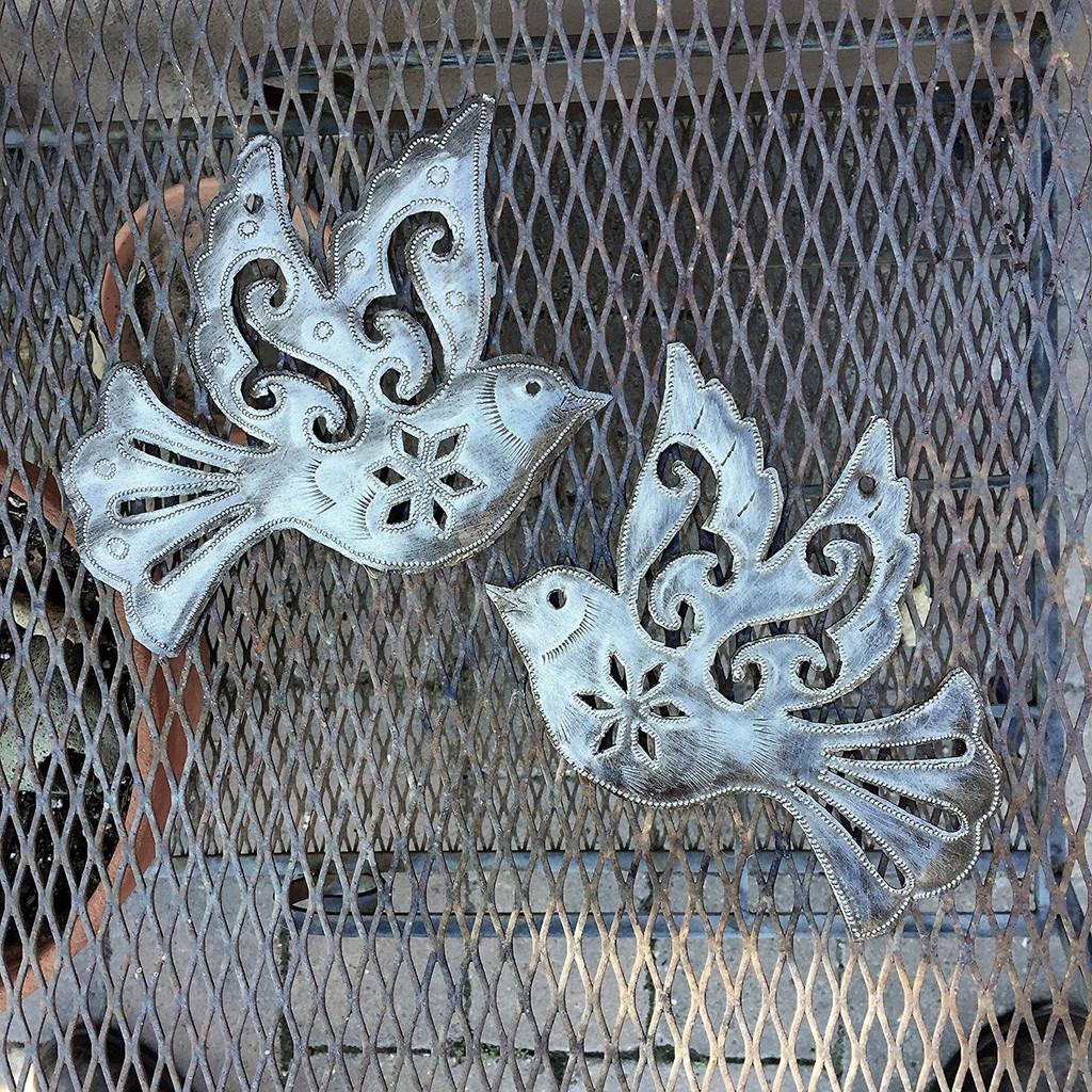 Set of 2 Handcrafted Birds