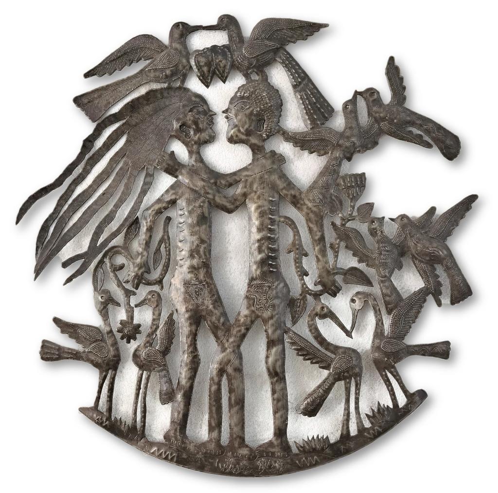 Adam & Eve, Garden of Eden, Animals, Creation, Religious Decor, Free Trade