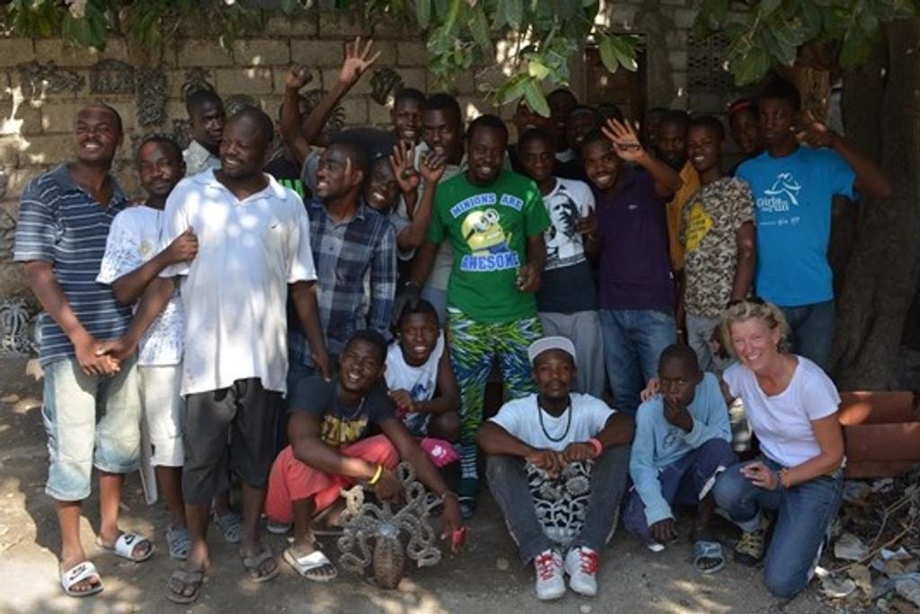 Art Under the Tree Haiti metal artists group