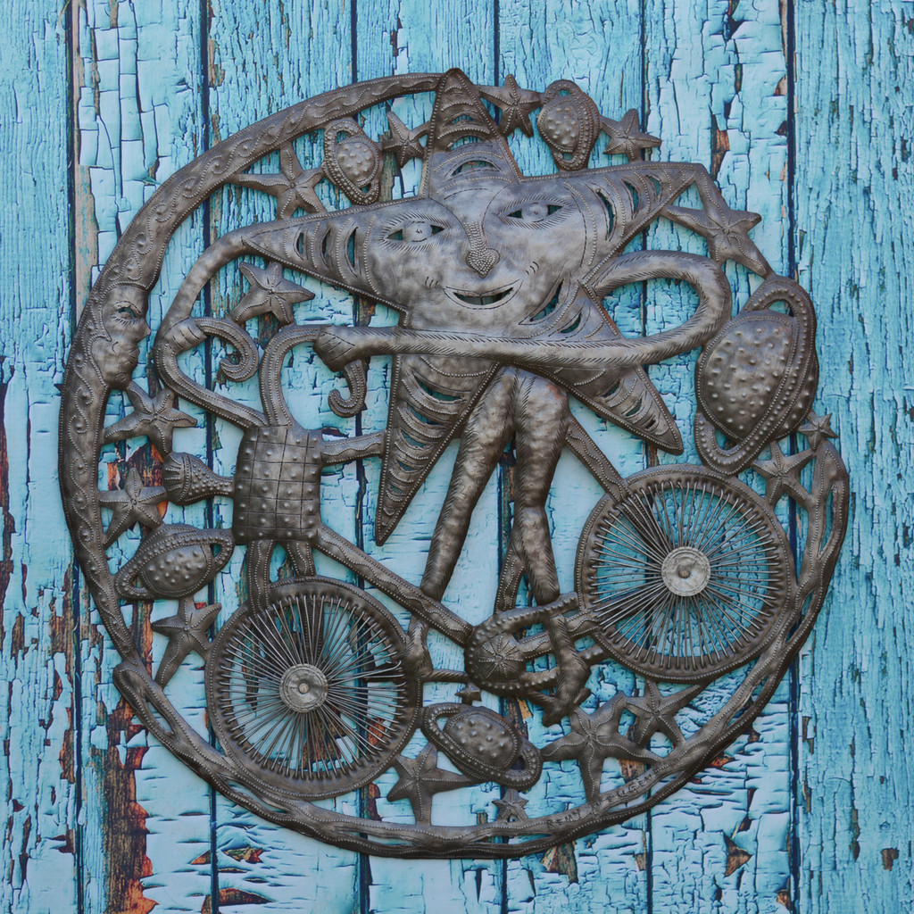 Sustainable, Recycled Art, Reclaimed Sculpture, Steel Drums, Oil Barrels, Handcrafted, Handmade