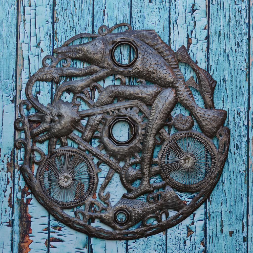 Bicycle Art, Garage Art, Haitian Art, Haiti Artist, Dragon