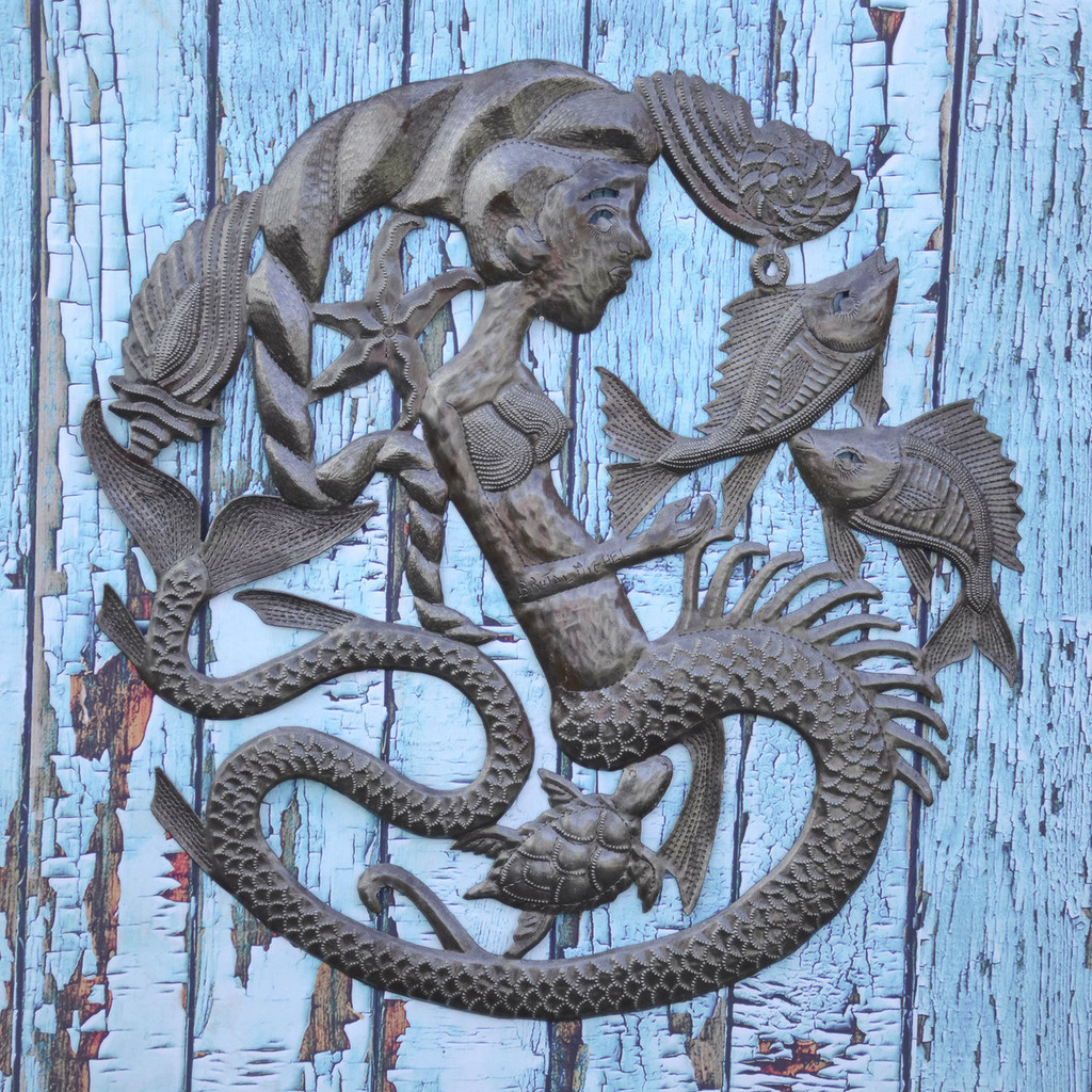 Mermaid, Fish, Sea Life, Sea Creatures, Art, Ocean, Nautical, Beach, Home, Decor, Art, Sculpture, Sustainable, Eco-Friendly, Unique, Handmade, Craftsmanship, Handcrafted, Limited Edition, Little Mermaid,