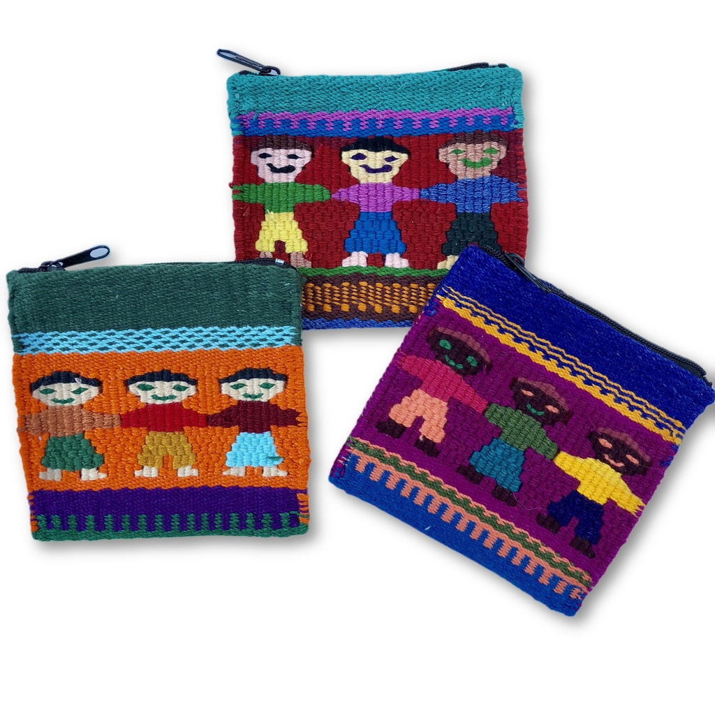 coin purse teacher gift end of the year , hand woven Guatemala