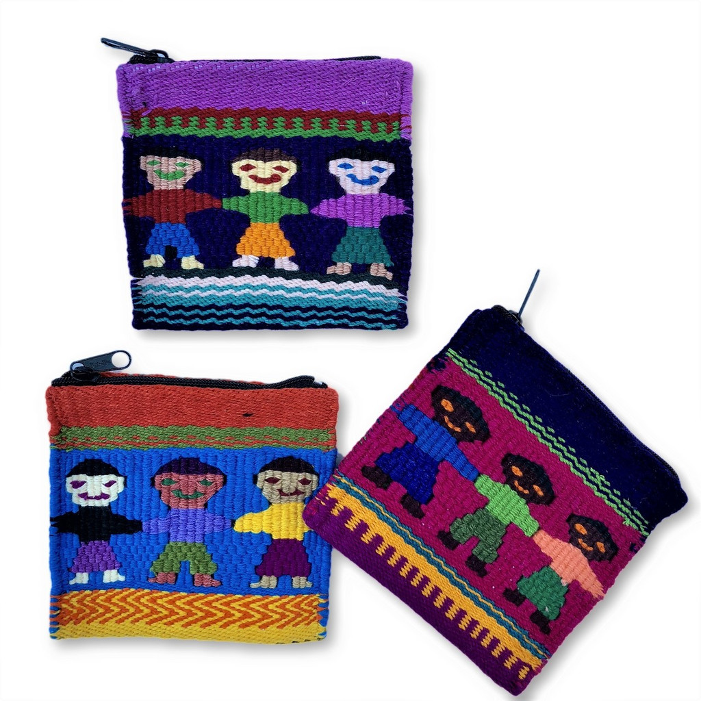 Teacher Gift, Fair Trade, Guatemalan Colorful Children Hand-crocheted Coin Purse