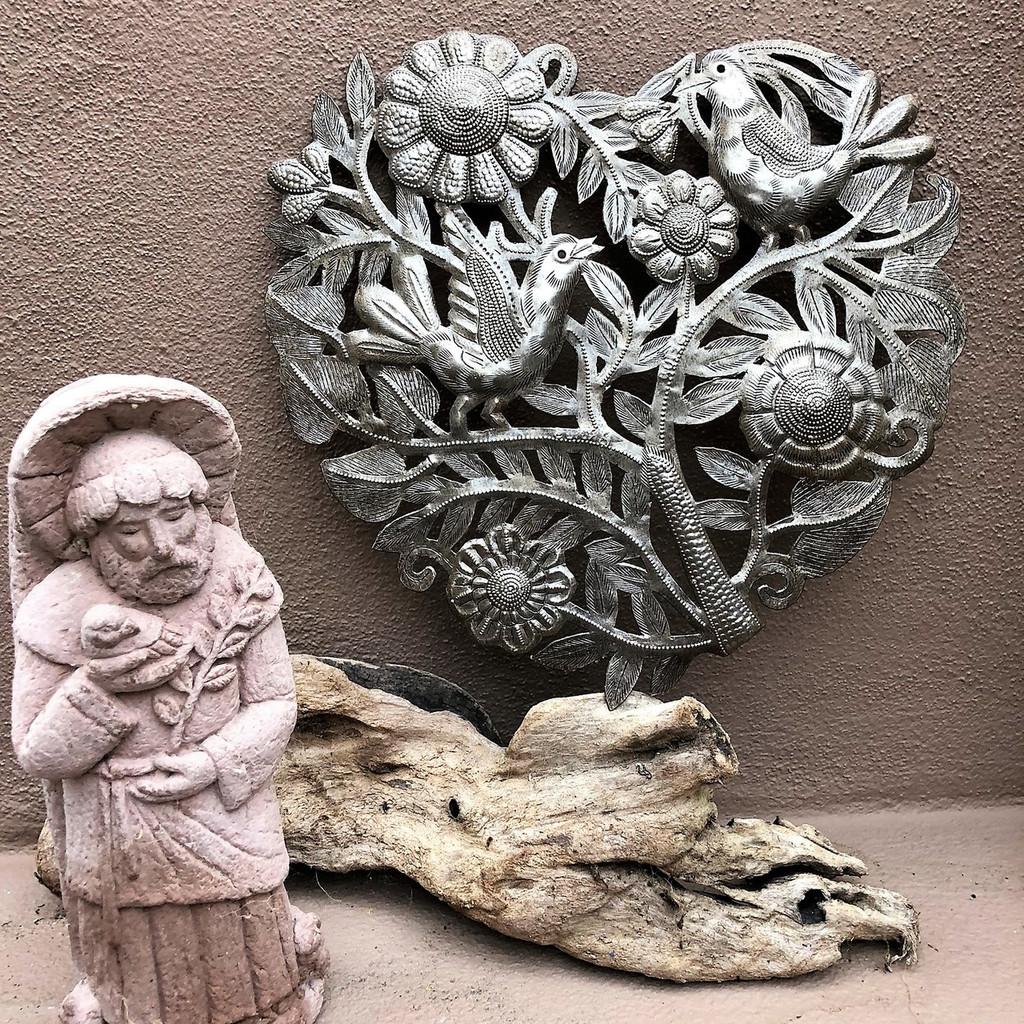 Haitian Metal Art , Floral Heart